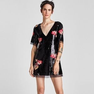 Zara sequin mini dress